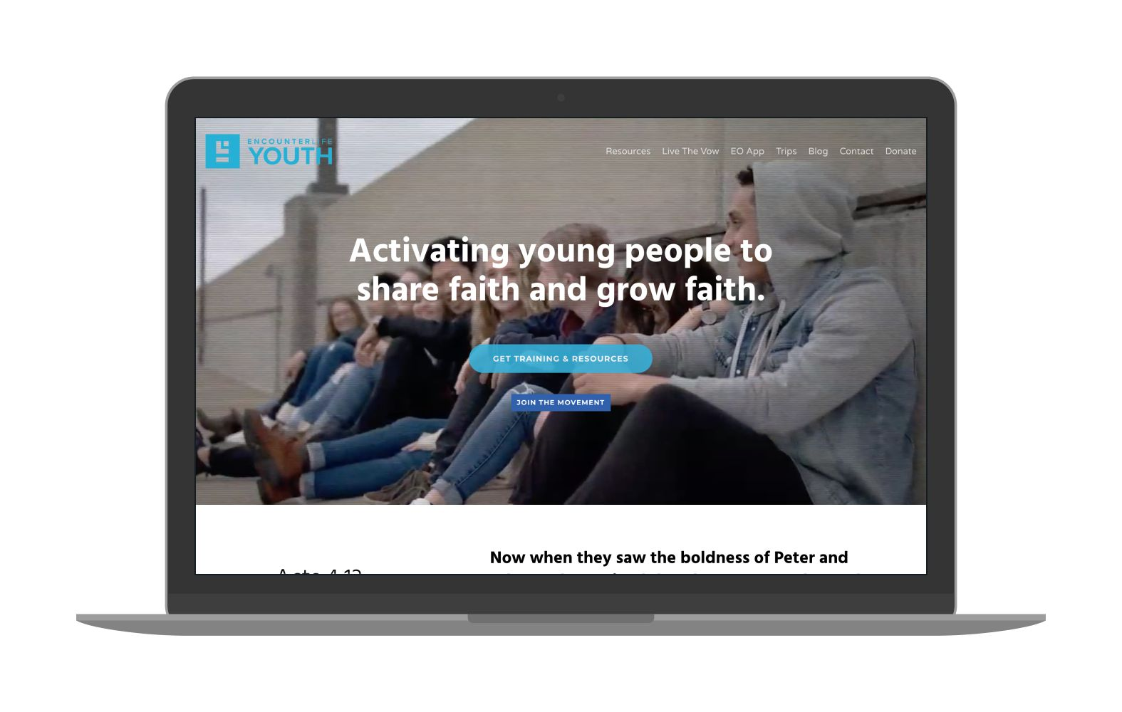 Swank Design Website and Graphic Design Encounter Life Youth Mockup