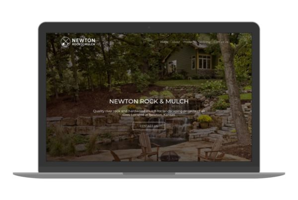 Swank Design Website and Graphic Design Newton Rock and Mulch-Macbook