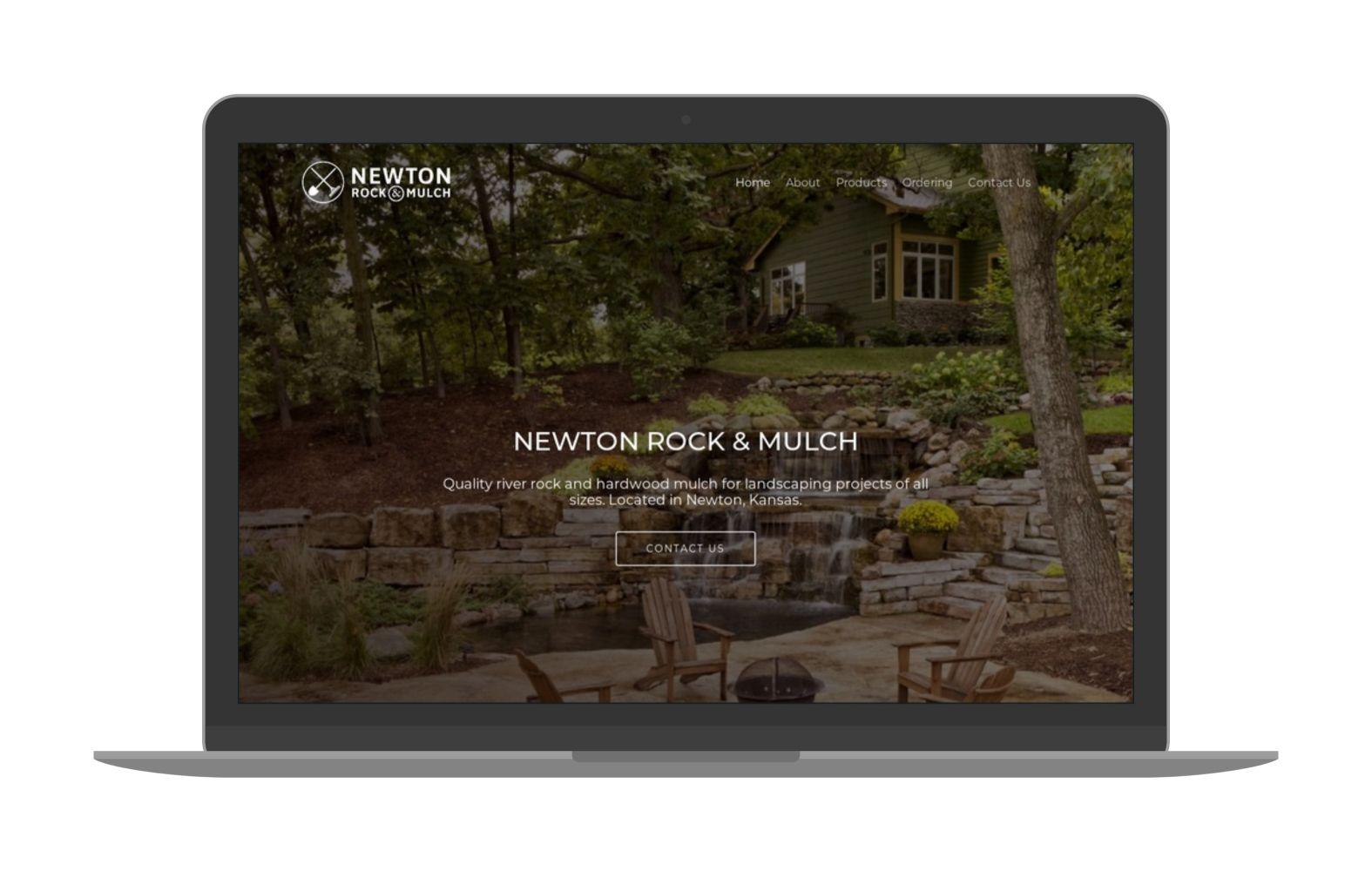 Swank Design Website and Graphic Design Newton Rock and Mulch-Macbook